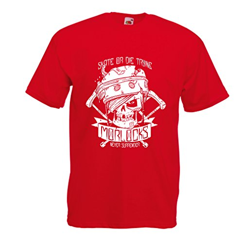 lepni.me N4605 Camiseta Skate or Die Trying (Medium Rojo Multicolor)