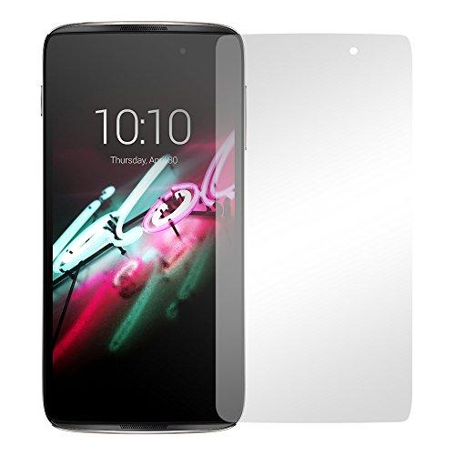 Slabo 2 x Bildschirmfolie für Alcatel Idol 4 Bildschirmschutzfolie Zubehör Crystal Clear KLAR - Made IN Germany
