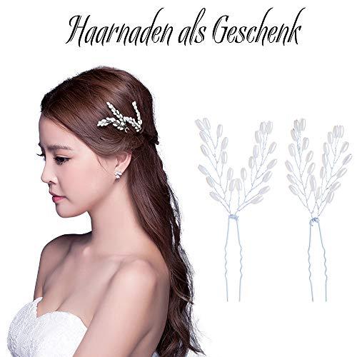 Skitic Strassbesatz Haarband und Stirnband mit Kristall, Fashion Schön Style Kopfschmuck Haarbänder Lange Glänzende Haarranke für Frauen und Mädchen (Silber) - 4