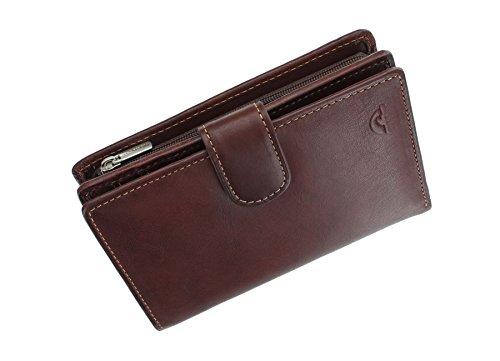 Tony Perotti volnerf lederen portemonnee met tab sluiting - RFID beschermd 1009_1