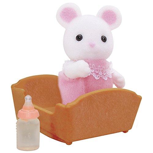 SYLVANIAN FAMILIES- White Mouse Baby Mini Muñecas y Accesorios, Multicolor (Epoch para Imaginar 5069)