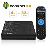 Android TV Box, Android 9.0 TV Box 4 GB RAM 32 GB ROM H6 Quad-Core Cortex-A53 unterstützt 3D 6K Ultra HD H.265 2,4 GHz WiFi Ethernet HDMI Smart TV Box