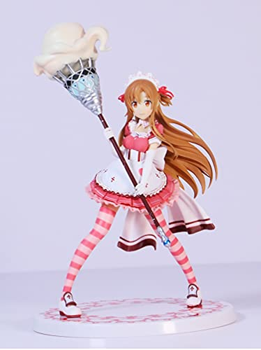 DMCMX Figur Schwert Kunst Online Yuuki Asuna Maid Kostüm Anime Spiel Charakter Modell Statische Charakter Desktop Ornament PVC. Material 16 cm Hohe Chassis Ornamente Mituri