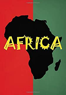 Africa: Lined Notebook with Silhouette of African Continent