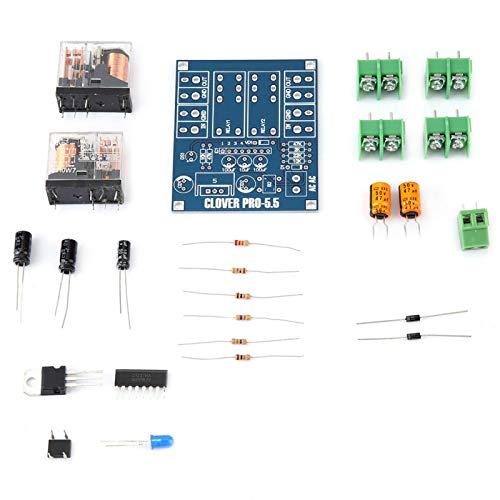 Placa de protección de altavoz GONNELY - AC 12-24V Regulador de voltaje de relé dual Módulo de placa de protección de altavoz Kit de bricolaje para proteger el amplificador de audio