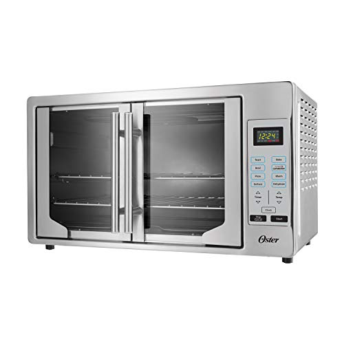 Oster French Convection Countertop & Toaster Oven | Single Door Pull & Digital...