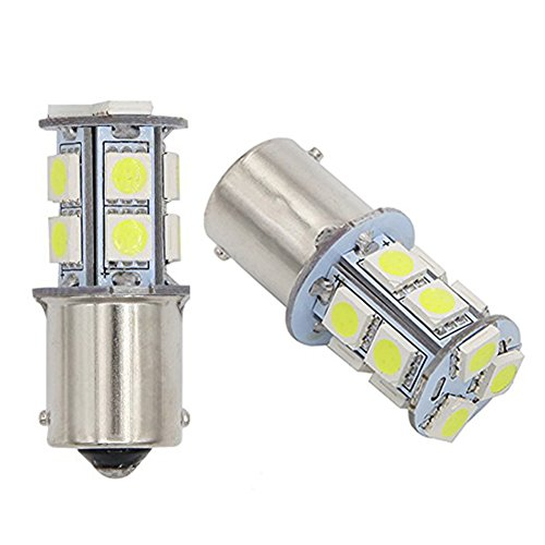 GutReise 2 pcs AC12V 24V B15 / BA15S LED Lampes Ampoules Lumière 13LED 5050 Blanc Chaud Froid blanc Rouge Bleu Vert Jaune (12V, Cold white)