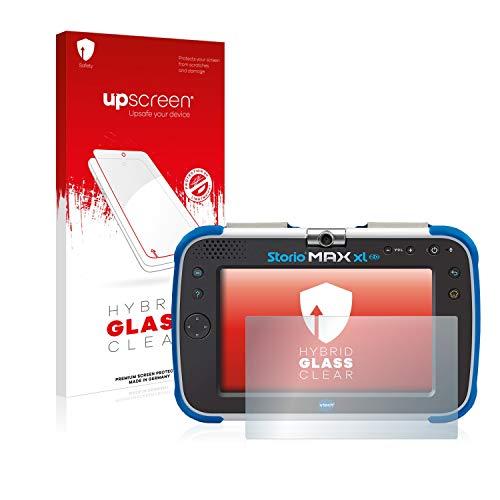 upscreen Film Protection Ecran en Verre Trempé Compatible avec Vtech Storio Max XL 2.0 - Hybrid Glass 9H Dureté