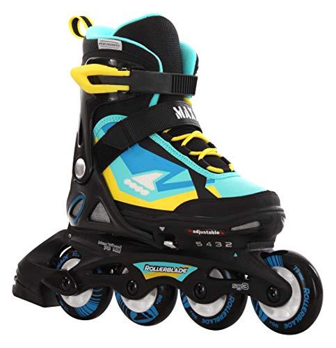Rollerblade MAXX SC - Patines en línea, color negro y azul,