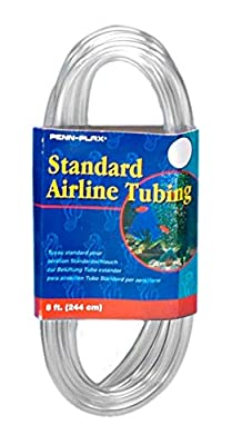 Penn Plax Airline Tubing for Aquariums ?Clear and Flexible Resists Kinking, 8 Feet Standard