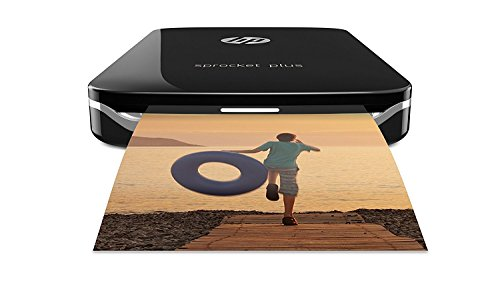 HP Sprocket Plus - Stampante fotografica portatile, Connettività Bluetooth, Foto adesive da 5,8 x 8,6 cm con la carta fotografica HP ZINK Plus, Nero