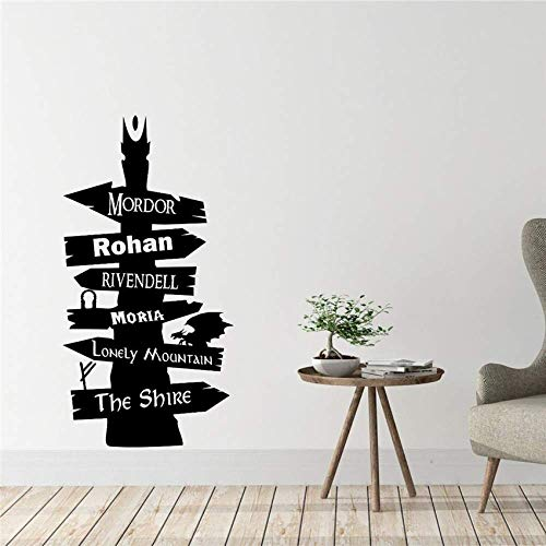 El Señor De Los Anillos Vinilos Decorativos Vinilos Adhesivos Murales Vinílicos Art Decor Home Decor Removable Nursery Kids Room Wall Sticker 58X110Cm