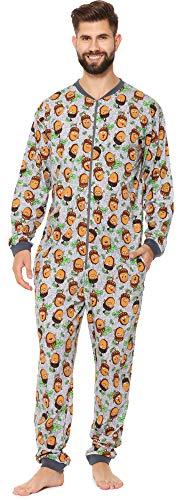 Cornette Pijama Entero para Hombre CR-196 (Gris (Bellota), XL)