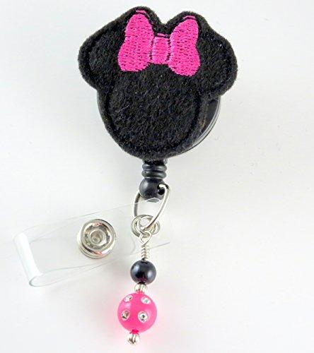 Girl Mouse - Nurse Badge Reel - Retractable ID Badge Holder - Nurse Badge - Badge Clip - Badge Reels - Pediatric - RN - Name Badge Holder