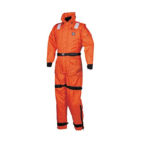 Lowest Prices! Mustang Survival - Deluxe Anti-Exposure Coverall (Orange-S) - USCG Approved, Flotatio...