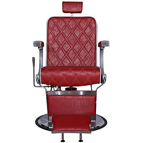 Barberpub Friseurstuhl Friseursessel Bedienungsstuhl Hydraulisch Stuhl rot 3825RD