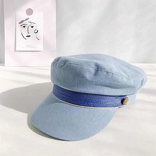 CMmin Modischer Hut Hut Frühling und Sommer dünne Models Navy Hut weibliche japanische Baumwolle koreanische Wilde Retro gemeldet Bonn Benn Benn Benn BREET Fide von England Modischer Hut