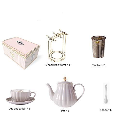 MSNLY Kaffeetassen-Set Kleine Feinkeramik im europäischen Stil Nordisches High-End-Haus Leichtes Englisches Nachmittagstee-Teeset