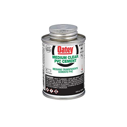 Oatey 31017 4 oz. PVC Medium Clear Cement