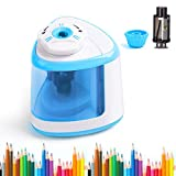 LOBKIN Electric Pencil Sharpener, Battery-Powered, Batteries Included, High-Speed Automatic Pencil Sharpener (BLUE)