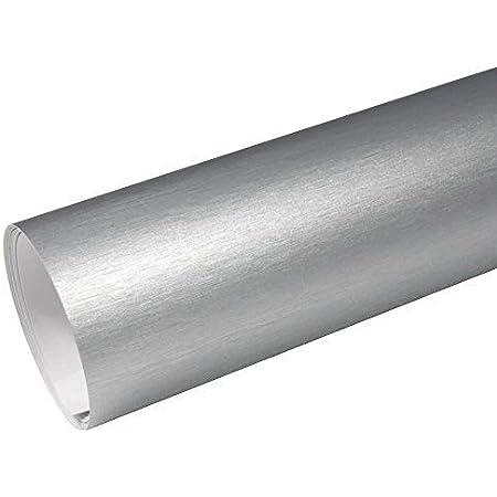 Rapid Teck 8 55 M Autofolie Serie Z560 Chrom 3d Brushed Silver 1m X 1 52m Alu Gebürstet Selbstklebende Premium Car Wrapping Folie Mit Luftkanal Baumarkt
