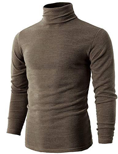 Romanstii Herren Rollkragen Langarmshirt Rollkragenpullover Pullover Baumwolle Elastisch Tops