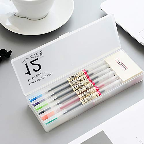 Colorful Gel Pens, Doraking 12pcs 0.5mm Colorful Frosted-Holder Gel Ink Pens for Writing, Painting, Highlighting, Scrapbooking with 2Pads Sticky Notes (12 Colors Gel, 12PCS/Box)