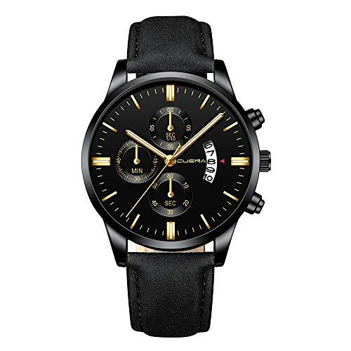 Armbanduhren männer Herrenuhr mit Datum Funktion Herren LED Digital wasserdichte Quarz Armbanduhr Kleid goldene Armbanduhr Frauen Männer Armbanduhr Uhren Armbanduhren Herrenarmbanduh Schwarz 15