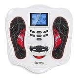 OSITO Masajeador de Pies con EMS/TENS, Masajeador de Circulación de Pies (Dos Sistemas para Pies y Cuerpo) 25 Modos 99 Niveles Intensidad para Promover la Circulación Sanguínea y Uso Aliviar la Fatiga