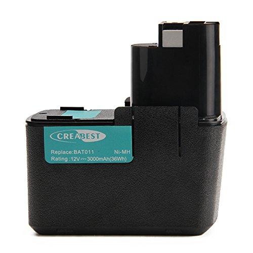 Creabest - Batería para Bosch 3300K Psb 12Vsp-2 Psr 120 Psr 12Ves-2 Gbm 12V Gli 12V Gsb 12 Vse-2 DDR 12 V GSR 12 V 2607335055 2607335071 2607335107 2607335145 2607335172 (12 V, 3 Ah)