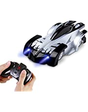 AMERTEER Remote Control Car,Electric Toy RC Cars on the Wall, Dual Mode 360°Rotating Stunt Rechargeable High Speed Race Vehicle with LED Lights, Xmas RC Cars for Boys Girls 3-16 Year Old (black)