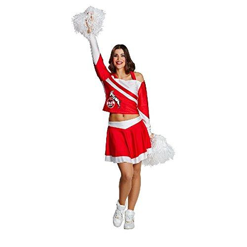 Rubie's 1.FC Köln Hennes Cheerleader Damen Kostüm Kleid Gr.38