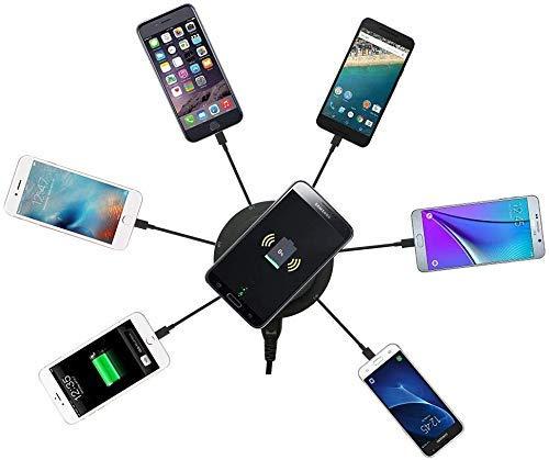 XYSQWZ Cargador Inalámbrico para iPhone iPad Samsung HTC Sony Nokia LG Y Otros Teléfonos Inteligentes 30w 6a 6 Puertos USB Fast + Wireless