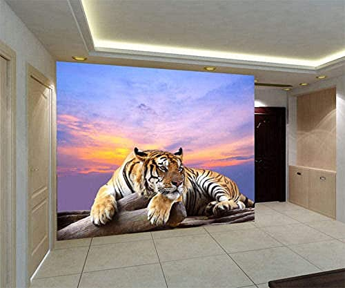 XHXI Tiger Live Wildlife 3D Full Wll Wll Murl Lrge Print Home Carta da parati Poster board 3D Carta da parati fotomurali poster murale Soggiorno camera letto-400cm×280cm