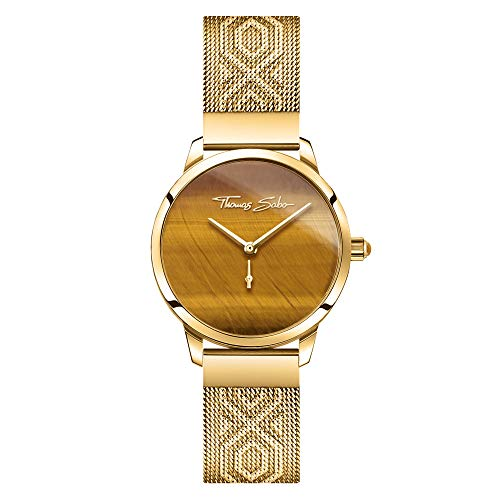 THOMAS SABO Damen Analog Quarz Uhr mit Edelstahl Armband WA0364-264-205-33 mm