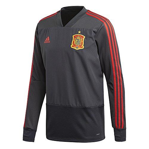 adidas Fef TR Top Camiseta, Hombre, Gris/Rojo (Grpudg/grinoc), L