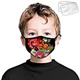 Spl-atoon Game Child Scarf Face Mouth Dust Mask with Filters Bandana Kids Boys Girls Cycling Outdoor White