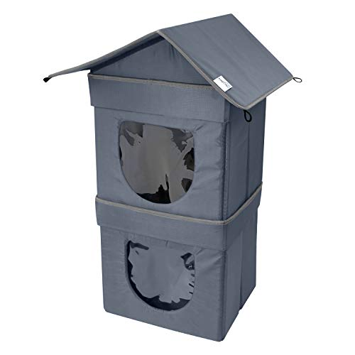 Kitty City 2 Level Outdoor Cat Condo, Large Cat Bed,...