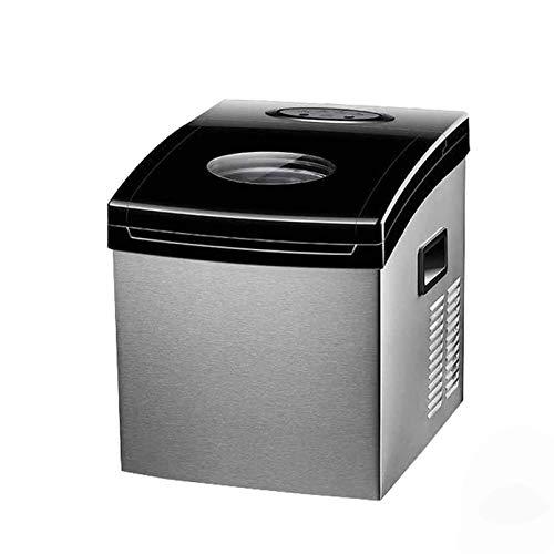 IJsblokjesmachine Draagbare ijsblokjesmachine Aanrecht 24 ijsblokjes klaar in 12-20 minuten, roestvrijstalen compacte ijsblokjesmachines, voor kamperen, thuis, keuken, kantoor