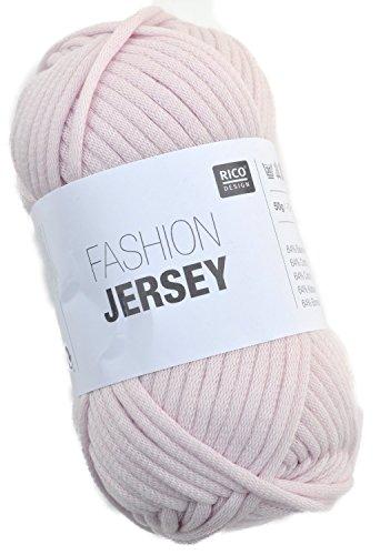 Rico Fashion Jersey Fb. 009 - Light Rose, Jersey Bändchengarn, Sommerwolle, Schlauchgarn zum Stricken & Häkeln