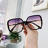 FDNFG Gafas de conducta Gafas de Leopardo Gafas de gradiente Gafas de Sol Gafas de Marco Completo Gafas Gafas UV400 Cortina Gafas de Sol (Color Name : D)