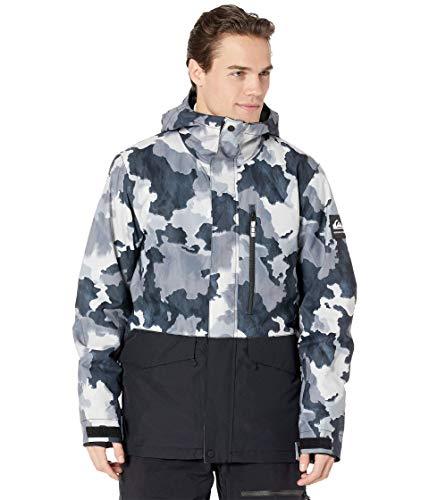 Quiksilver Snow Mission Printed Block Jacket True Black Bustin Big Camo 2XL