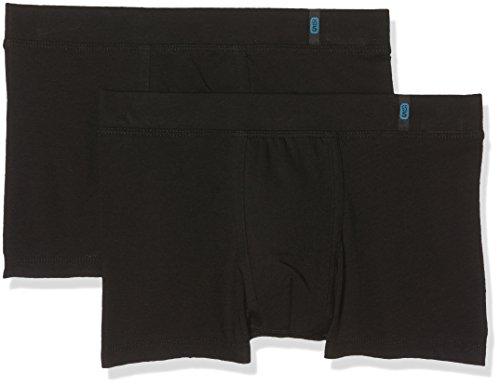 Schiesser Jungen Boxershorts, Schwarz (Schwarz 000), 176 (Herstellergröße: L) (2er Pack)