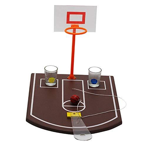 Juego de Mesa de Vino de Baloncesto de Mesa, Juegos para Beber para Adultos, Juegos de Mesa para Adultos, Juegos para Beber, Muy Adecuado para Fiestas y Noches de Juegos-marrón
