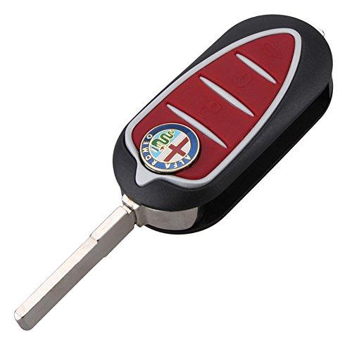 mächtig Rote 3-Knopf-Khaki-Schutzhülle für Alfa Romeo MiTo Julietta GTO1593