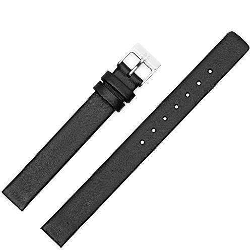 Skagen Uhrenarmband 12mm Leder Schwarz XS - Uhrband 358XSSLBC