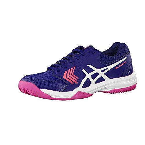 Asics - Gel-Dedicate 5 Clay - Zapatillas de Tenis Outdoor - Indigo Blue/White/Diva Pink