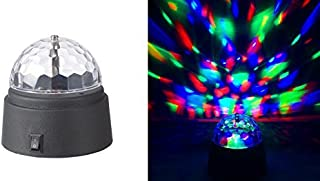 Rotating Crystal Ball LED Light Dome Battery-Operated 3.5