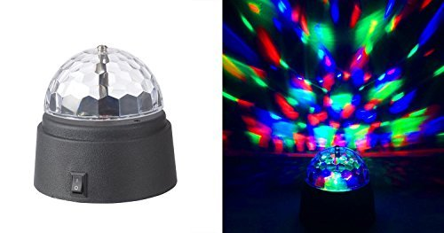Rotating Crystal Ball LED Light Dome Battery-Operated 3.5' inch Party Event...