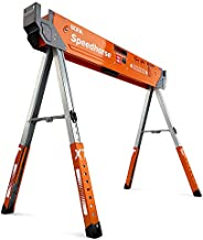 Bora Portamate Speedhorse XT Adjustable Height Sawhorse - Single Piece Stand with 30-36 inch adjustable Legs, Metal Top for 2x4, Heavy Duty Pro Bench Saw Horse for Contractors, Carpenters - PM-4550